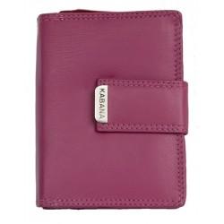 Dámská kožená peněženka Kabana v barvě fuchsia