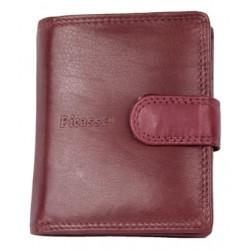 Kompaktní rubínově červená peněženka Picasso z nejkvalitnější kůže s nappa úpravou