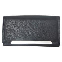Černá kožená peněženka Tillberg