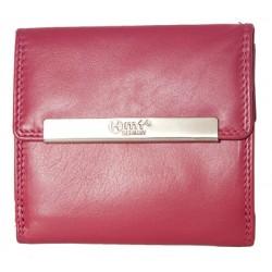 Růžová kvalitní kožená peněženka HMT kompaktních rozměrů