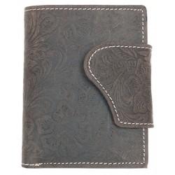 Kožená bytelná peněženka Lozano s ornamentální ražbou