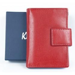 Kožené červené pouzdro Kristy.X na 14 platebních a jiných karet a bankovky
