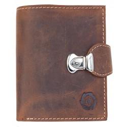 Kompaktní kožená peněženka se sponou