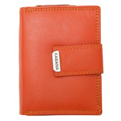 Oranžová kompaktní dámská kožená peněženka Kabana