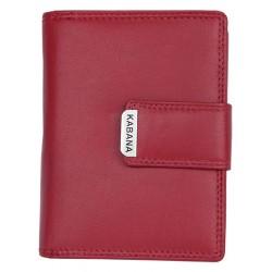 Červená dámská kožená peněženka Kabana