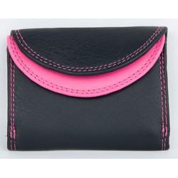 Černo-růžová kapesní maličká peněženka