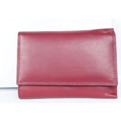 Červená kožená peněženka Corsi z měkké kůže
