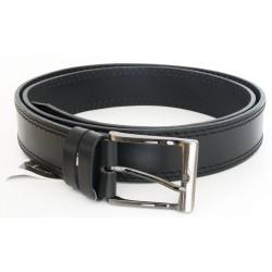 Pánský černý kožený opasek šířka 38 mm, délka 130 cm