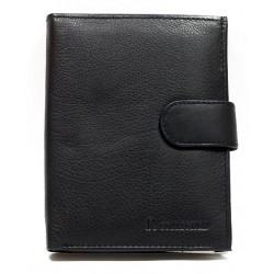 Pánská kožená peněženka kvalitní černá zapínací