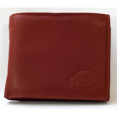 Kožená peněženka pánská temně cihlově hnědá (mdle tmavě červená)