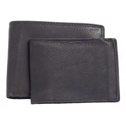 Kožená pánská peněženka s vyjímatelnou dokladovkou