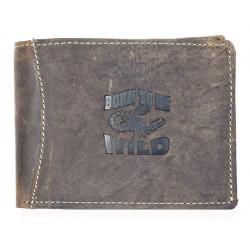 Kožená peněženka Born to be wild z přírodní pevné kůže se škorpionem