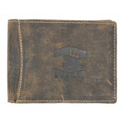 Kožená peněženka Born to be wild z přírodní pevné kůže se žralokem