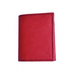 Červeno-černá celá kožená pánská peněženka
