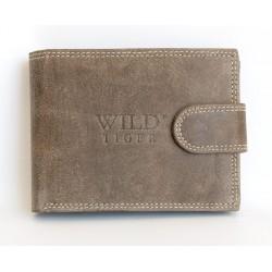 Kožená hnědá peněženka Wild z pevné hovězí kůže
