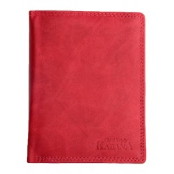 Červená celá kožená pánská peněženka