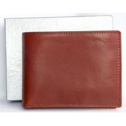 Pánská italská velmi kvalitní červená kožená peněženka