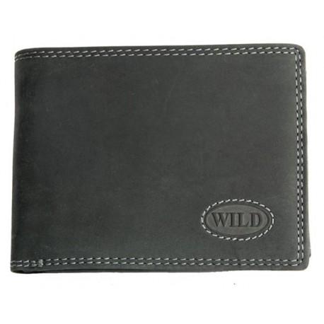 Pánská kvalitní kožená peněženka temně šedá Wild