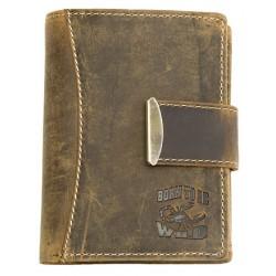 Kožená peněženka Born to be wild z přírodní kůže (se škorpionem)