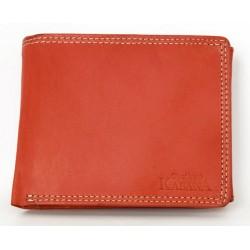 Klasická cenově dostupná červená kožená peněženka Kabana