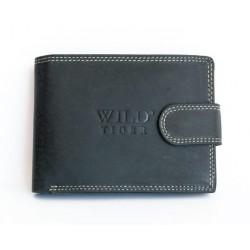 Velmi tmavě šedá kožená peněženka Wild Tiger