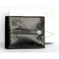 Luxusní černá pánská kožená peněženka