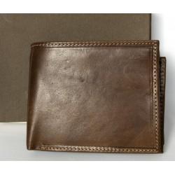 Italská kožená malá hnědá peněženka