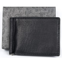 Kožená peněženka - dolarka z kvalitní černé kůže