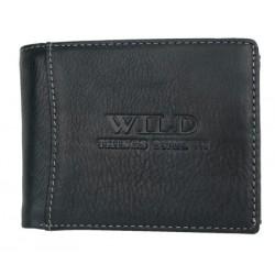 Tmavě šedomodrá pánská kožená peněženka Wild