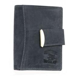 Šedá kožená peněženka Always Wild z přírodní kůže (se žralokem)