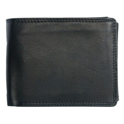 Kožená peněženka z měkké kvalitní kůže bez značek a nápisů