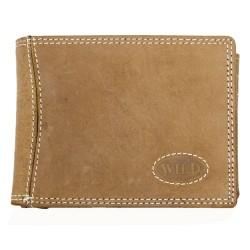 Kožená peněženka Wild z pevné hovězí kůže s látkovou podšívkou