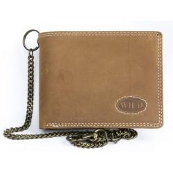 Pánská motorkářská peněženka Wild s 50 cm dlouhým kovovým řetězem a karabinkou