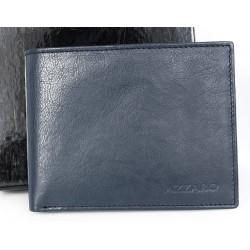 Velmi tmavě šedomodrá multicolor kožená peněženka Azzaro