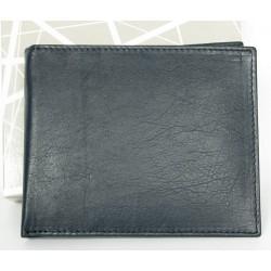 Kožená šedomodro-světle tyrkysová peněženka, bez značek a nápisů