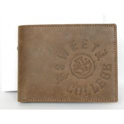 Kožená peněženka Sweet College z pevné přírodní kůže