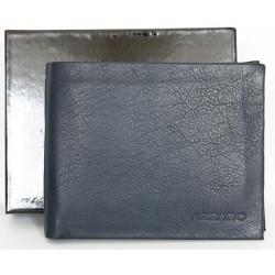 Kožená šedomodrá peněženka Azzaro z příjemné měkké kůže