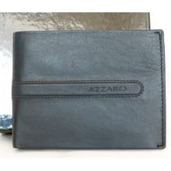 Pánská kvalitní kožená šedomodrá rozkládací peněženka Azzaro