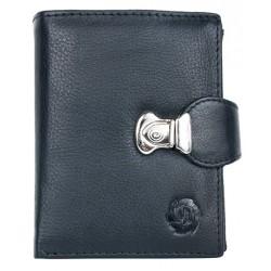 Středně velká unisex kožená peněženka se sponou