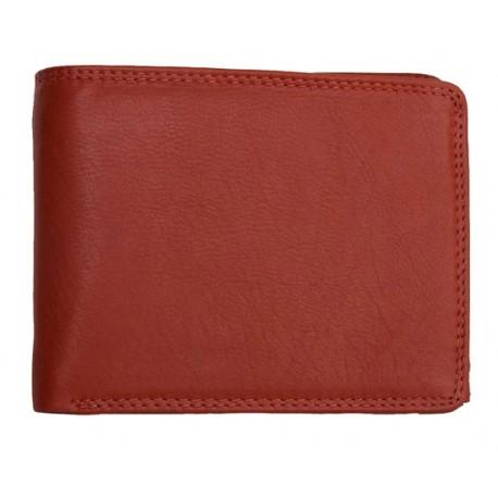 Pánská červená celá kožená peněženka velmi kvalitní