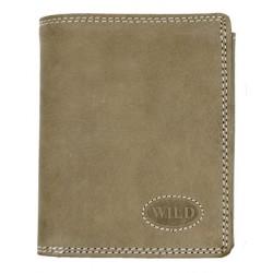 Pánská celokožená světle našedozelenalá peněženka Wild