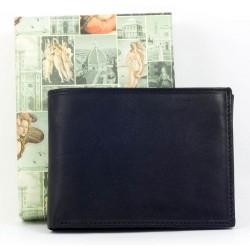 Kvalitní černá kožená peněženka z měkké příjemné kůže
