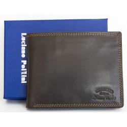 Luxusní kožená peněženka Luciano Pollini z kvalitní hnědé kůže
