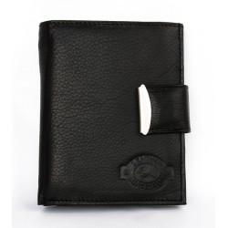 Pánská černá kožená peněženka Gazello s přezkou