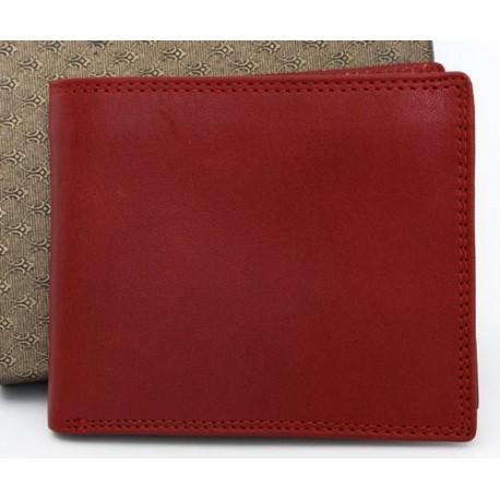 Kvalitní červená peněženka z pevné kůže bez značek a nápisů