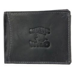 Kožená peněženka Always Wild z velmi tmavé šedé pevné kůže se žralokem