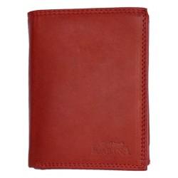 Pánská červená celá kožená kvalitní peněženka Kabana