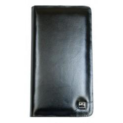 Kožené cestovní pouzdro na karty, doklady a drobné předměty, zapínané na kvalitní kovový zip