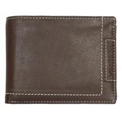 Celokožená tmavě hnědá pánská peněženka Lozano