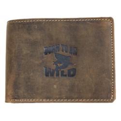 Kožená peněženka Born to be wild z pevné kůže se žralokem